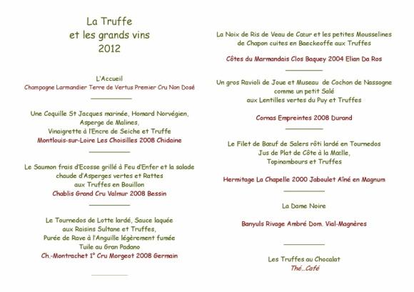 Daniel Van Lint vous convie au menu truffe et grands vins