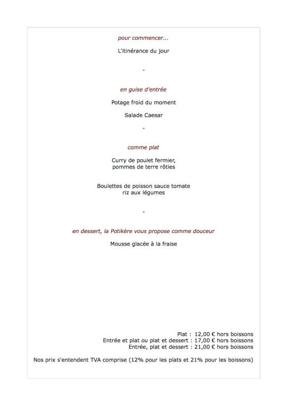Le menu de la semaine du 30 juillet