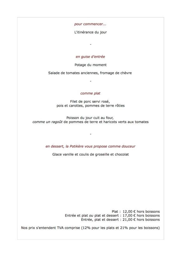 Le menu de la semaine du 13 août