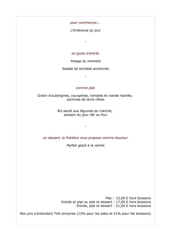 Le menu de la semaine du 27 août