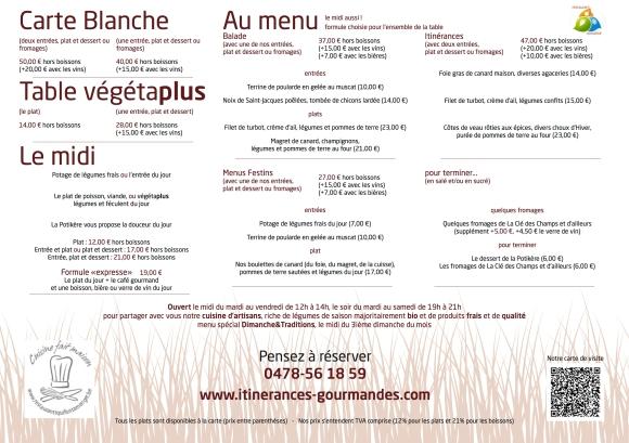 Itinérances Gourmandes - Menus20150113
