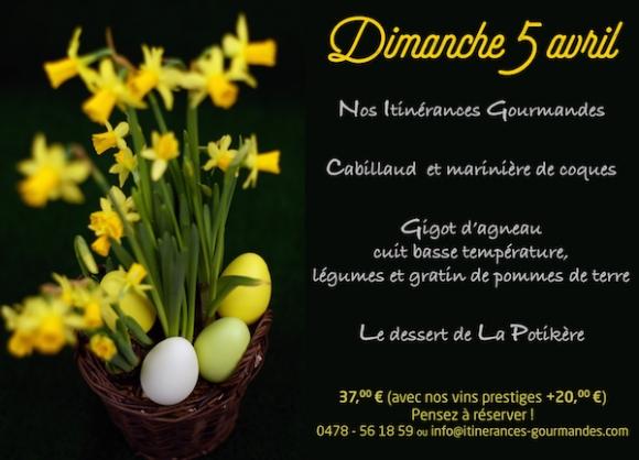 Au restaurant Itinérances Gourmandes à Andenne, ce dimanche 5 avril 2015